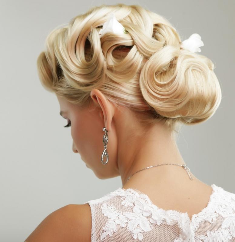 Onde Fazer Penteados de Casamento Noiva Jardim Santa Marcelina - Penteados para Cabelos Cacheados para Casamento