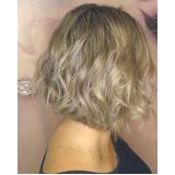luzes cabelo curto