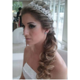 salão para penteados de casamento para noiva Vila Elisa